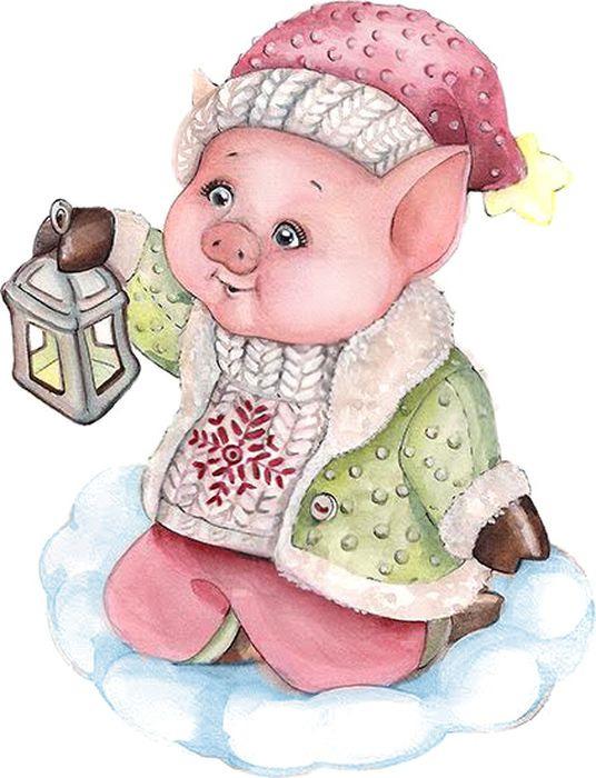 Декоративная фигурка Magic Time Свинка с фонариком, 6 х 4 х 8 см декоративная фигурка magic time свинка с фонариком 6 х 4 х 8 см