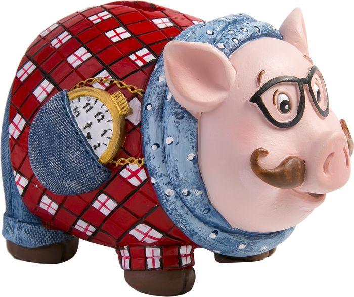 Декоративная копилка Magic Time Свин в очках, 12.5 х 8.5 х 8 см декоративная копилка magic time свин путешественник 12 х 7 х 9 см