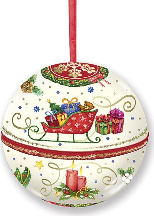 Новогоднее подвесное украшение Magic Time Шар. Сани, с предсказанием внутри. 77877 новогоднее подвесное украшение елочный шар цвет золотистый 25110