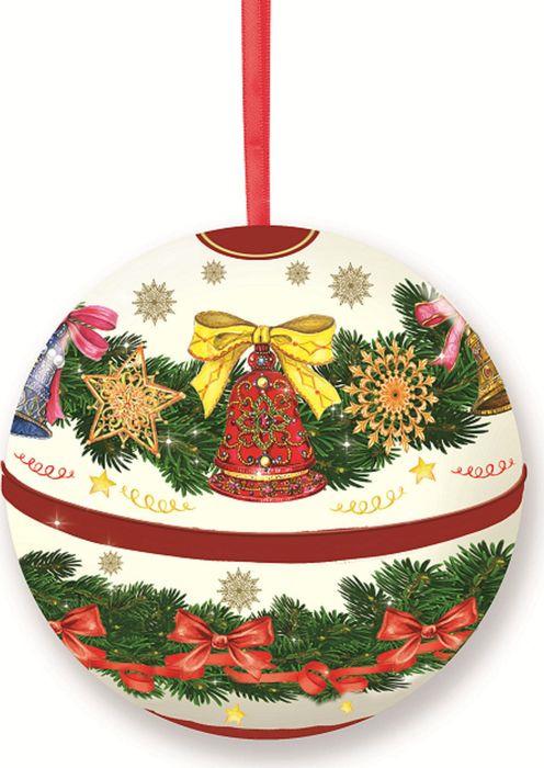 Новогоднее подвесное украшение Magic Time Шар. Ветви, с предсказанием внутри. 77880 новогоднее подвесное украшение елочный шар цвет золотистый 25110