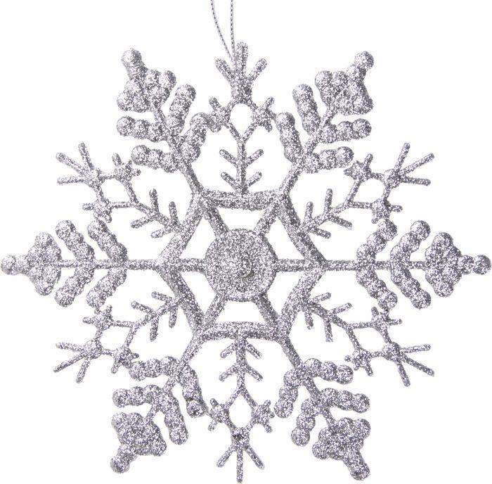 Новогоднее подвесное елочное украшение Magic Time Снежинка-паутинка серебряная, 16,5 x 16,5 x 0,2 см новогоднее подвесное украшение снежинка цвет золотистый 25102