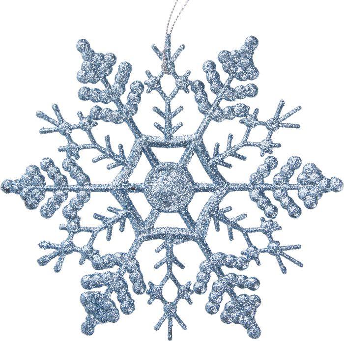 Новогоднее подвесное елочное украшение Magic Time Снежинка-паутинка голубая, 16,5 x 16,5 x 0,2 см новогоднее подвесное украшение снежинка цвет золотистый 25102