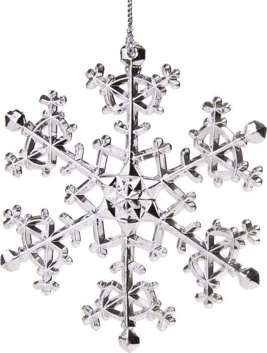 Новогоднее подвесное елочное украшение Magic Time Снежинка изящная, 11 x 11 x 0,4 см новогоднее подвесное елочное украшение magic time снежинка с золотым глиттером 13 5 x 12 x 0 3 см