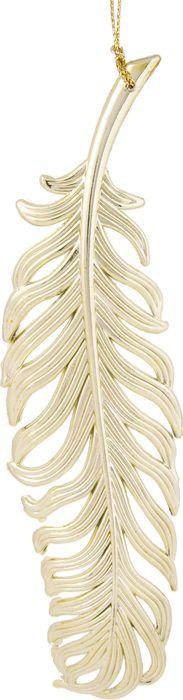 Фото - Новогоднее подвесное елочное украшение Magic Time Перо, цвет: золотой, 18,5 x 4,5 x 0,2 см новогоднее подвесное елочное украшение magic time подарок цвет золотой 8 x 8 5 x 0 2 см
