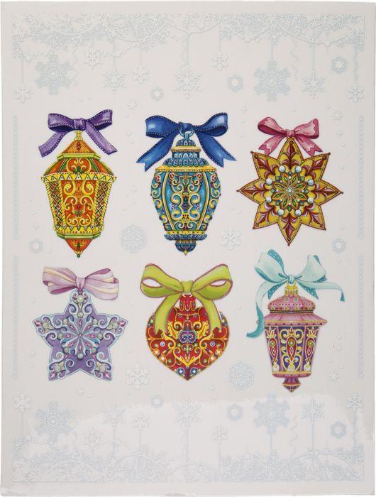 Новогоднее оконное украшение Magic Time Разноцветные елочные игрушки, 30 x 38 см78100Наклейка предназначена для декорирования окон, зеркал, стекол, плитки и гладких стен. Может быть использована как для домашнего применения, так и в качестве декора фотостудий и выставочных витрин. Используйте чудесные узоры, составляйте целые тематические композиции, радующие глаз! Картонная подложка наклейки представляет собой раскраску. Готовьтесь к Новому Году всей семьей! Изделие не оставляет клеевых следов, не портит поверхность, предназначено для многоразового использования. Новогоднее оконное украшение Разноцветные елочные игрушки из ПВХ пленки (крепится к гладкой поверхности стекла посредством статического эффекта) с раскраской на картонной подложке / 30x38см арт.78100
