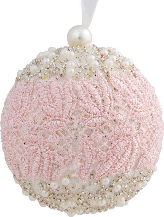 Новогоднее подвесное украшение Magic Time Шар с жемчужинами и кружевом, 8 см платье iceberg iceberg ic461ewbqkt9