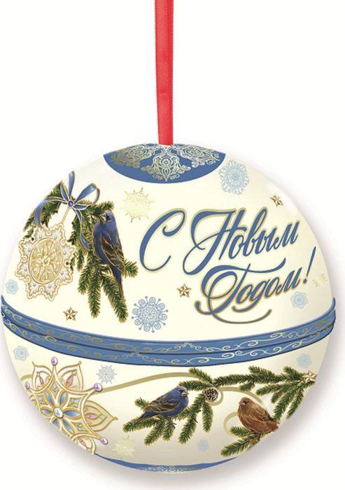 Новогоднее подвесное украшение Magic Time Шар. Птички, с предсказанием внутри. 78582 новогоднее подвесное украшение елочный шар цвет золотистый 25110