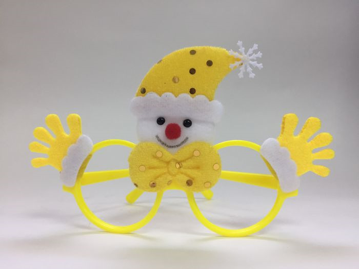 Очки новогодние Magic Time Желтый Снеговик. 78592 очки новогодние magic time варежки 76192