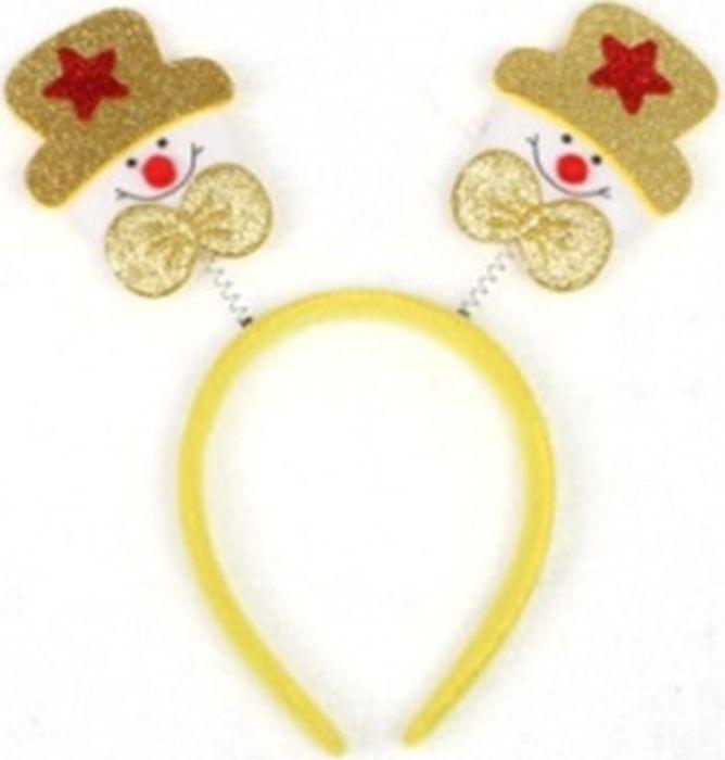 Новогоднее украшение на голову Magic Time Желтые Снеговики. 78599 украшения на голову