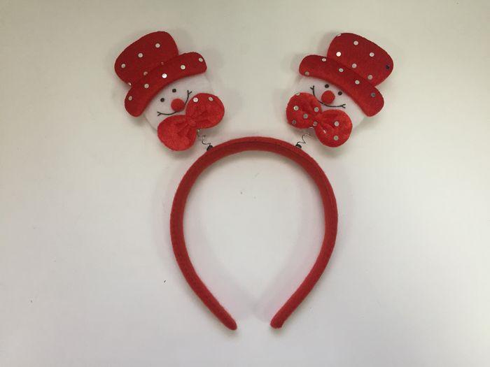 Новогоднее украшение на голову Magic Time Снеговик в красной шляпе. 78611 украшения на голову