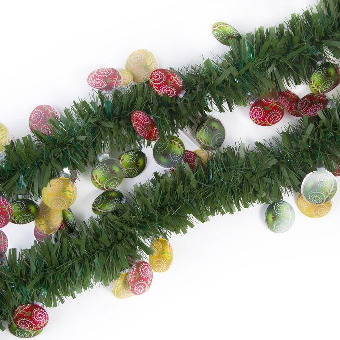 Мишура новогодняя Magic Time, с елочными шарами, цвет: зеленый, 8 х 200 см. 78842 цена