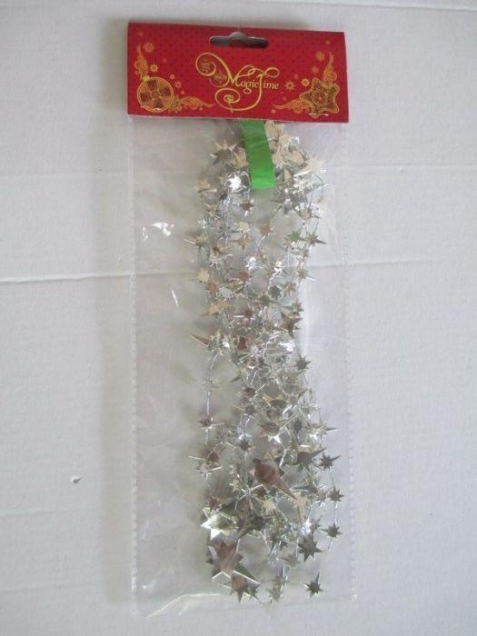 Гирлянда новогодняя Magic Time Серебряные звезды, 270 х 3 см. 78856 galaxy stone print tapestry wall hanging art