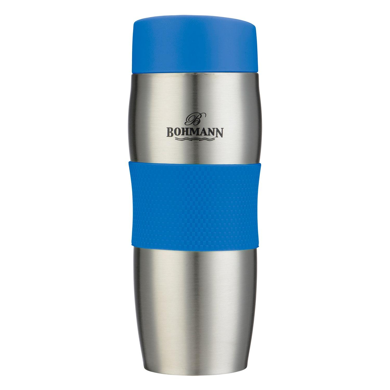 Термокружка Bohmann, цвет: синий, 375 мл. ВН-4456