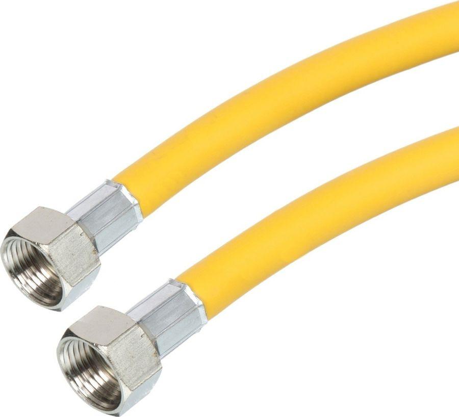 Шланг для газовых приборов Акваэлка, резиновый, цвет: желтый, 1/2х0,5 м в/в, MP-У газ всесезонный piktime для портативных газовых приборов 22