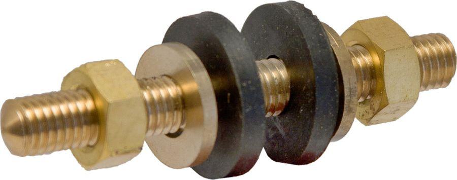 Шпилька латунная MasterProf, 6 мм, с гайками для унитаза, 2 шт, MP прокладка силиконовая masterprof 1 2 100 шт mp пакет