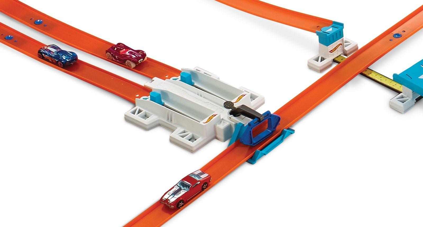 все цены на Hot Wheels Track Builder Игрушечный трек Двухполосная пусковая установка онлайн