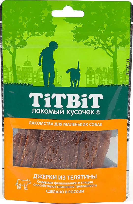 """Лакомство Titbit """"Джерки из телятины"""" для собак малых пород, 010983, 50 г"""
