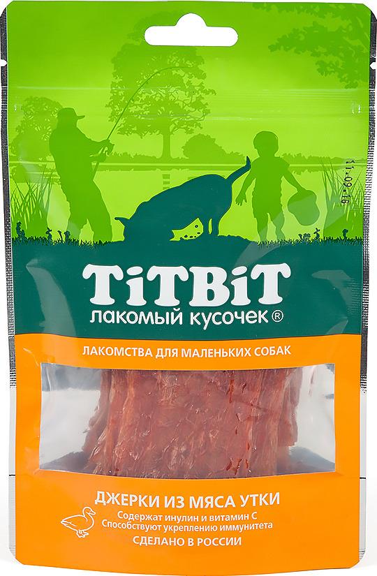 """Лакомство Titbit """"Джерки из мяса утки"""" для собак малых пород, 010990, 50 г"""