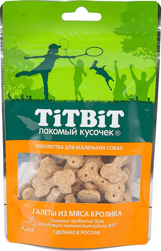 """Лакомство Titbit """"Галеты из мяса кролика"""" для собак малых пород, 011102, 50 г"""