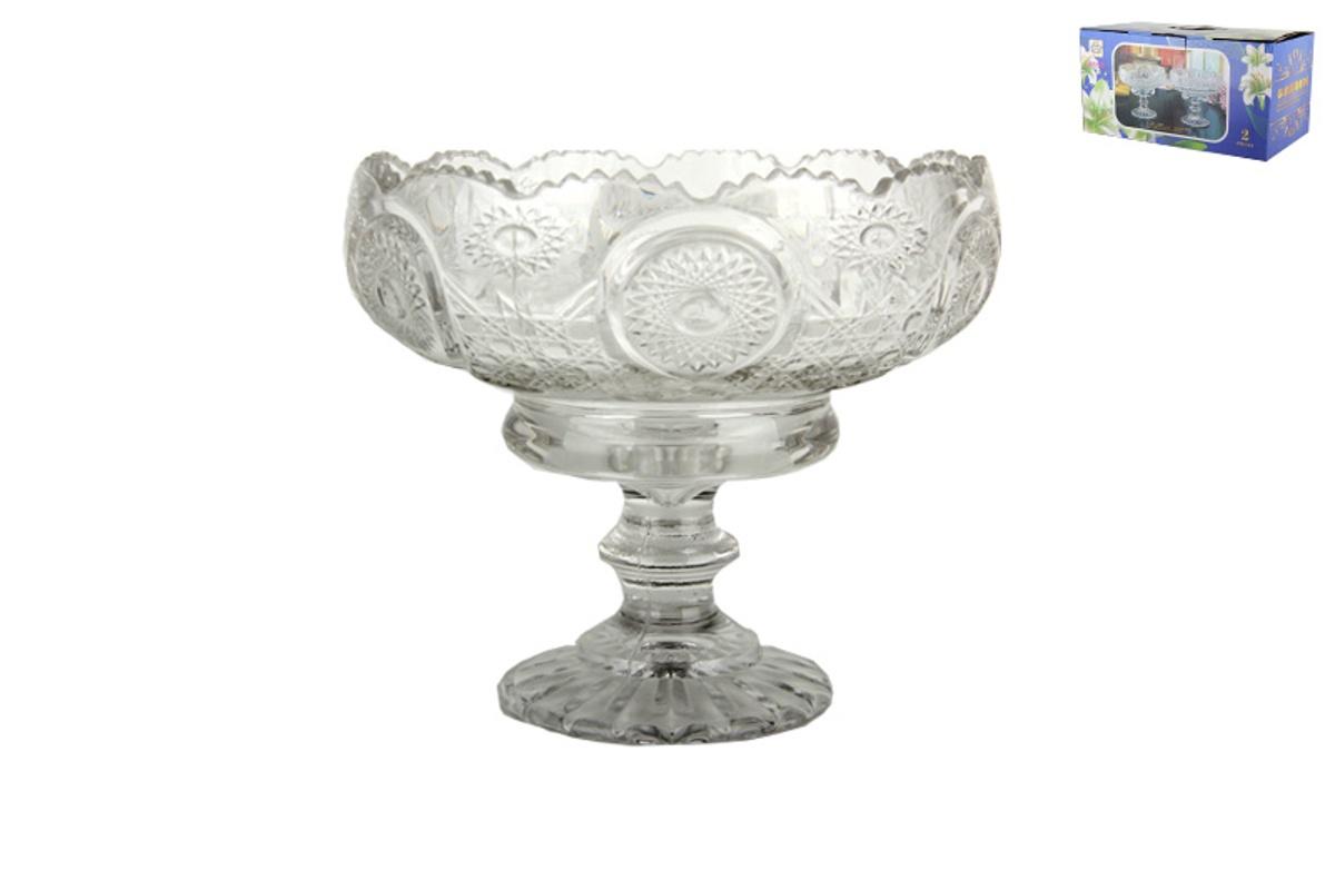 Ваза Коралл на ножке, цвет: прозрачный, диаметр 18 см. 939899939899Ваза идеально подойдет для сервировки стола, а так же может послужить отличным подарком