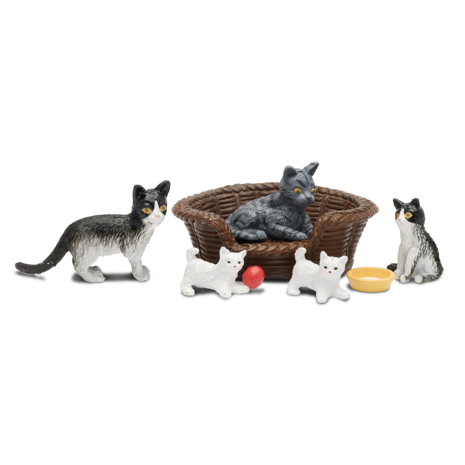 Набор животных Lundby Кошачья семья аксессуары для домика lundby набор животных кошачья семья