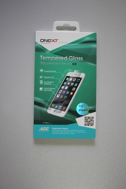 Защитное стекло Onext для телефона Apple iPhone 6/6S Plus 3D прозрачное