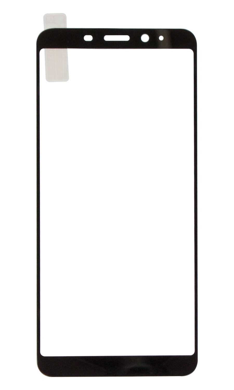 Защитное стекло Onext для телефона Meizu M6s (2018) с рамкой , черное защитное стекло для meizu m6s onext на весь экран с черной рамкой