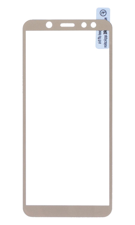 Защитное стекло Onext для телефона Samsung Galaxy A6, с рамкой золотое, full glue аксессуар защитное стекло для samsung galaxy a6 onext full glue gold 41684