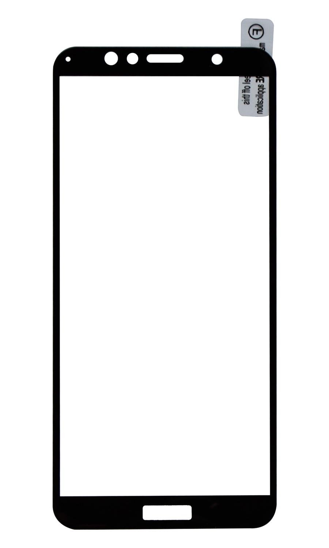 Защитное стекло Onext для телефона Huawei Honor 7A c рамкой черное аксессуар защитное стекло для huawei honor 7a onext c рамкой black 41802