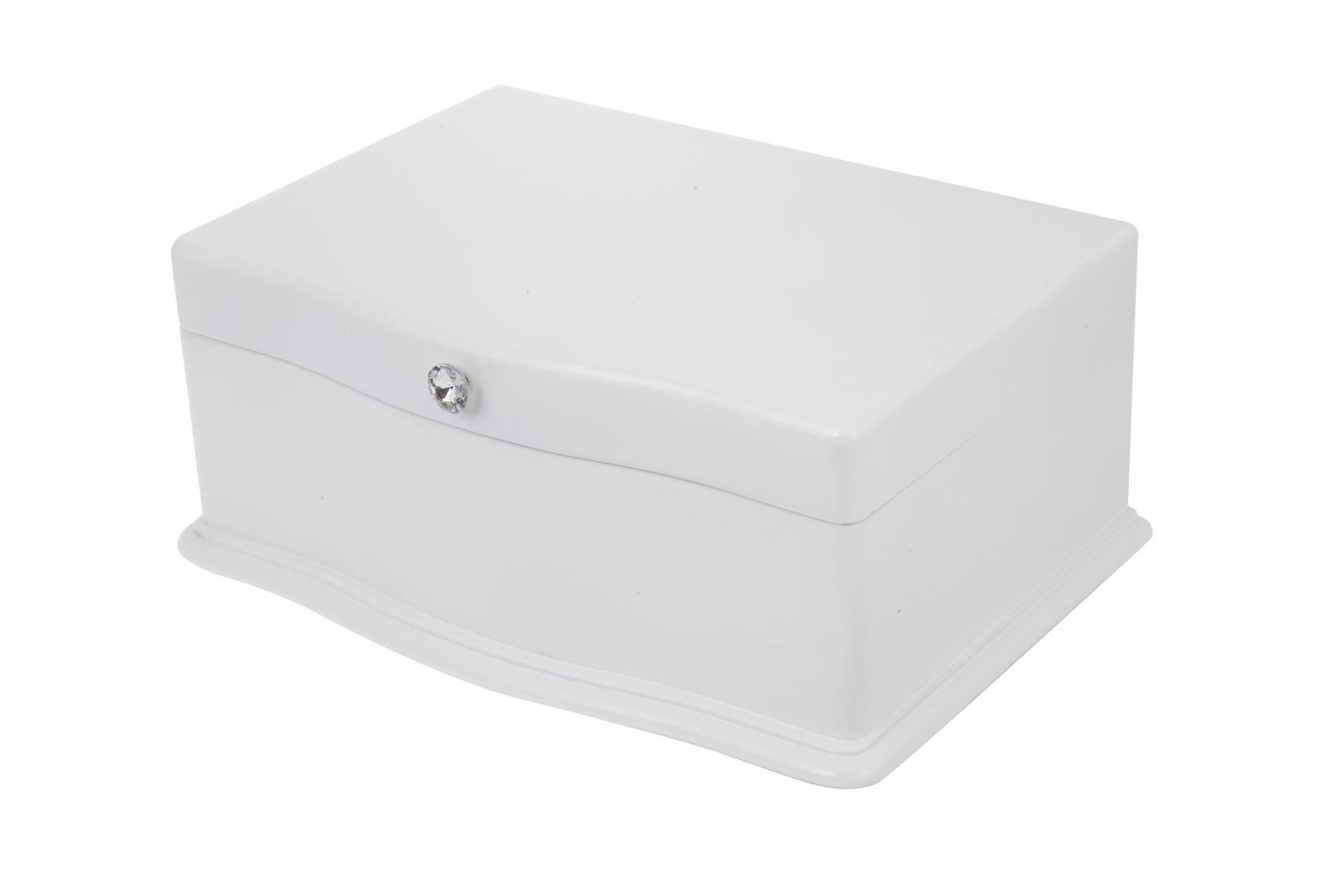 Шкатулка для украшений IsmatDecor, S-123B, белый