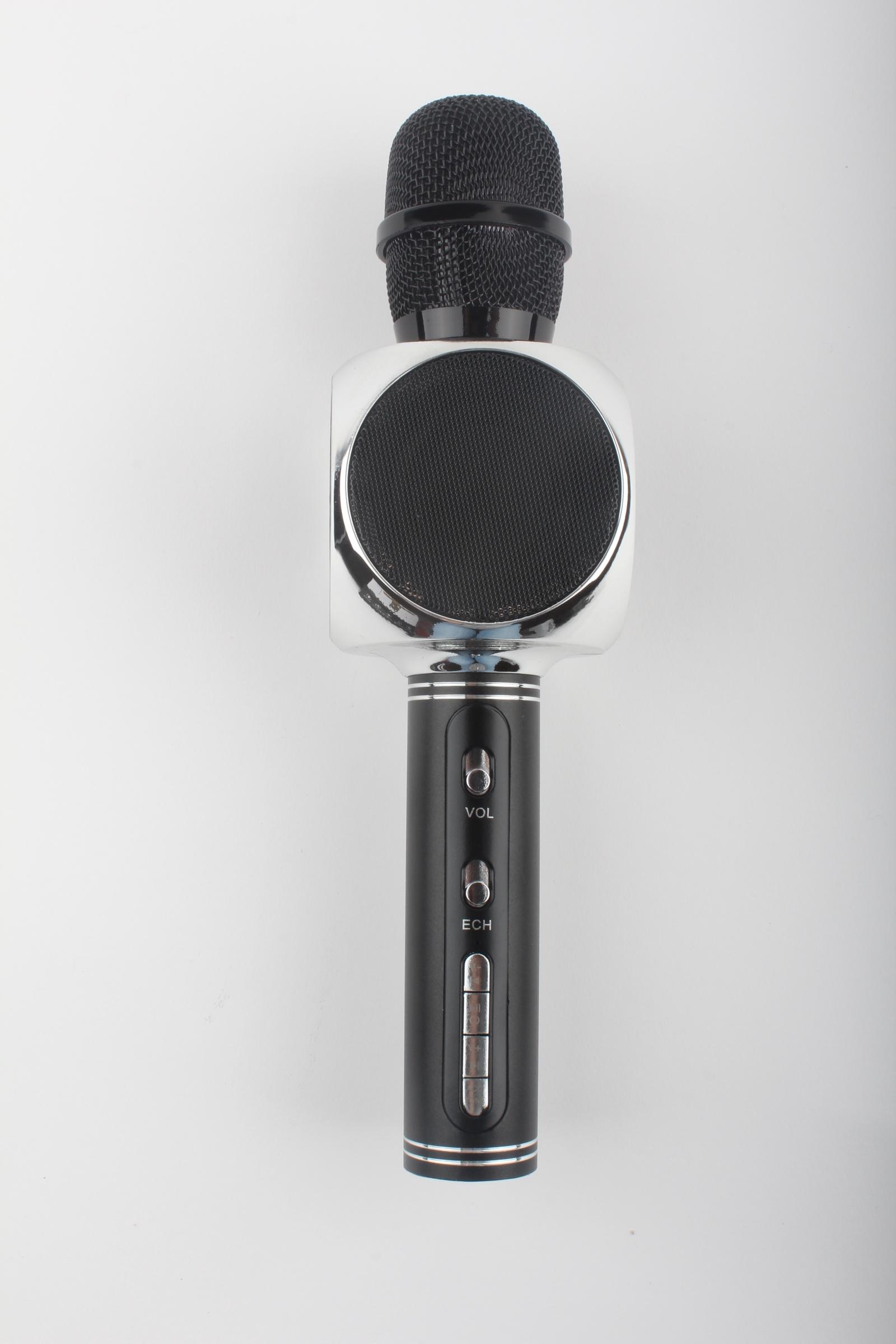 Караоке микрофон Karaoke Boom, YS63, черный, серебристый Karaoke Boom