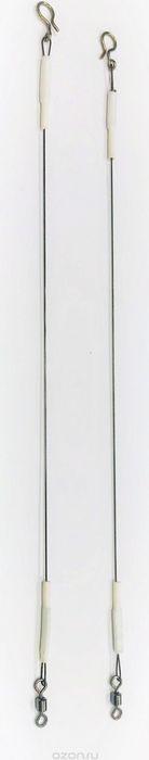 Поводки титановые AGP, для нахлыста и балансиров, с кольцом, длина 12 см, нагрузка 3 кг, 2 шт