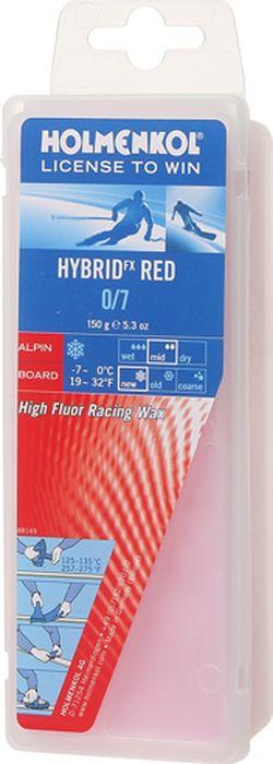 Парафин Holmenkol HF Hybrid Red, высокофторовый, -2…-6C, 150 г парафин holmenkol alphamix weltcup skiwax 1x150g желтый 150g