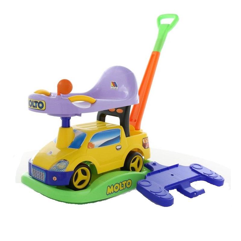 Автомобиль-каталка Paremo Пикап, многофункциональный, цвет: жёлтый