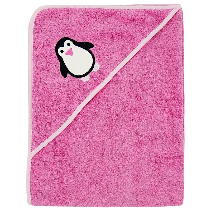 Полотенце с капюшоном ImseVimse, розовый, 100x100 см imsevimse полотенце с капюшоном cова