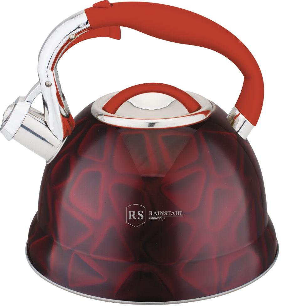 Чайник RAINSTAHL 7639-27RS\WK/КРАСНЫЙ, Нержавеющая сталь чайник rainstahl со свистком цвет белый 2 7 л 7642 27rs wk