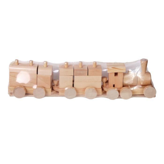 Конструктор-паровозик PAREMO деревянный. PE117-18 конструктор paremo деревянный pe117 8