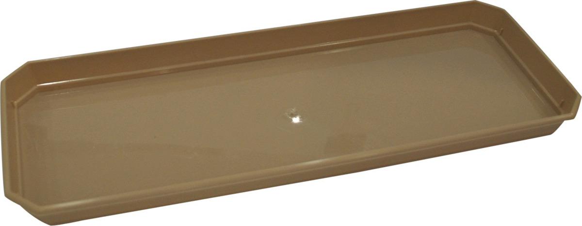 Поддон для балконного ящика InGreen, цвет: шоколадный, 40 см поддон для балконного ящика idea цвет терракотовый 40 см