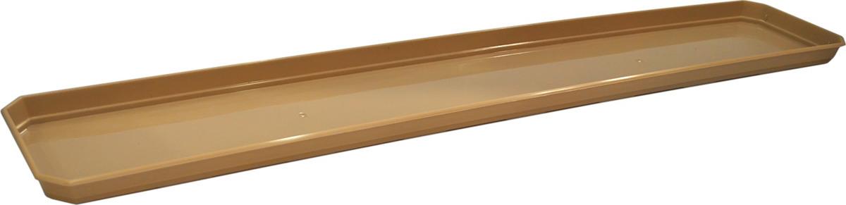 Поддон для балконного ящика InGreen, цвет: шоколадный, длина 60 см поддон для балконного ящика santino цвет белый длина 55 см