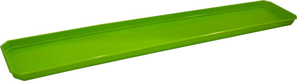 Поддон для балконного ящика InGreen, цвет: салатовый, длина 80 см поддон для балконного ящика santino цвет белый длина 55 см
