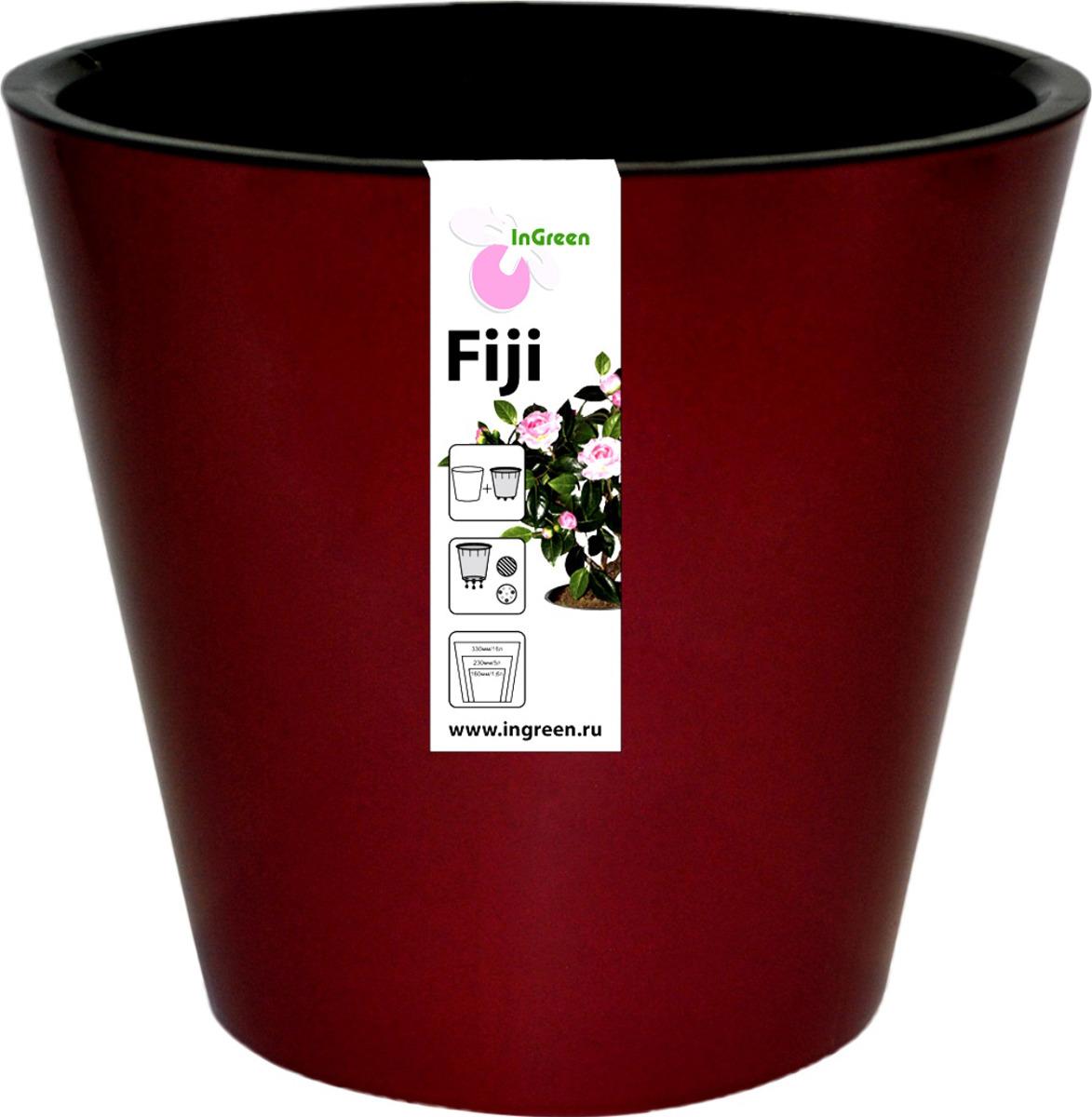 Фото - Горшок для цветов InGreen Фиджи, цвет: бордовый, 4 л горшок фиджи 1 6л d16cм бордовый