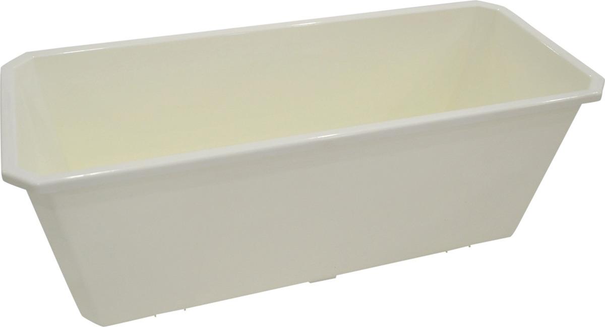 Ящик балконный InGreen, цвет: белый, длина 40 см