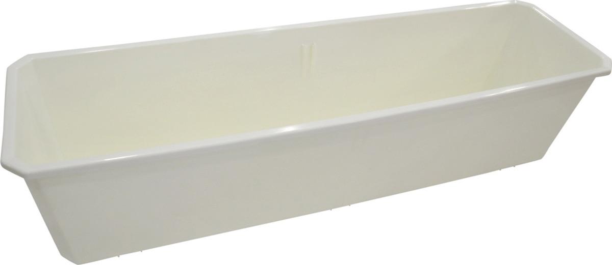 Ящик балконный InGreen, цвет: белый, 60 см