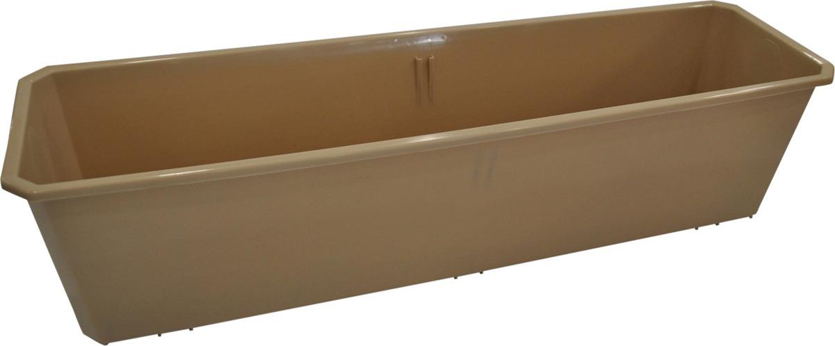 Ящик балконный InGreen, цвет: шоколадный, длина 60 см поддон для балконного ящика ingreen цвет белый длина 60 см