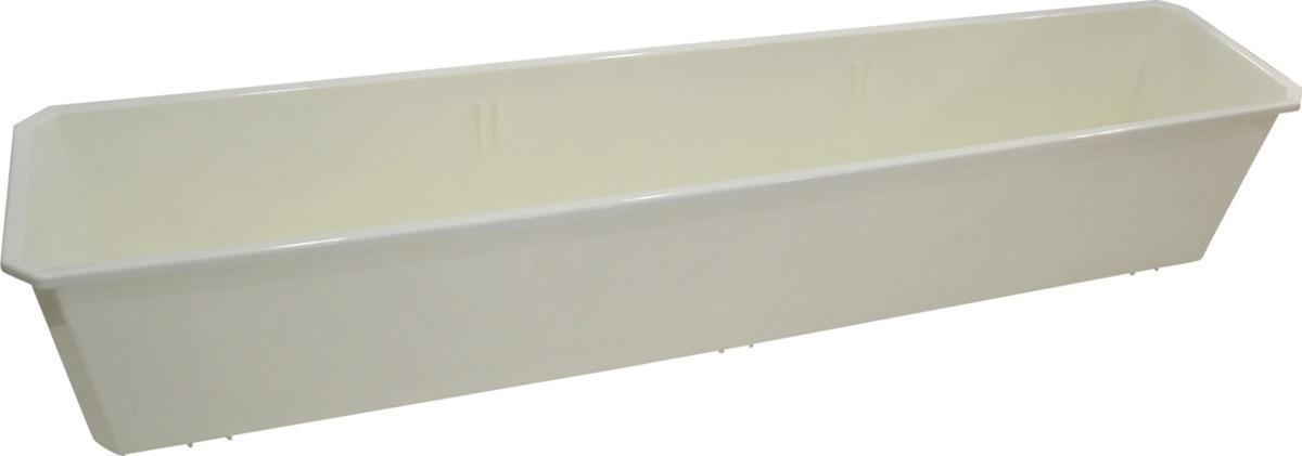 Ящик балконный InGreen, цвет: белый, длина 80 см поддон для балконного ящика ingreen цвет белый длина 60 см