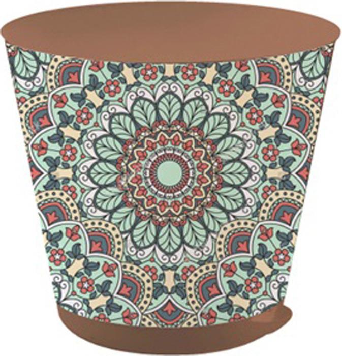 горшки Горшок для цветов InGreen Крит. Винтажный мотив, с системой прикорневого полива, D 200 мм, объем 3,6 л