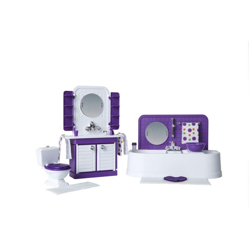 Мебель для кукол Огонек Ванная комната Конфетти комплект мягкой мебели пульсар 3 3 1 1