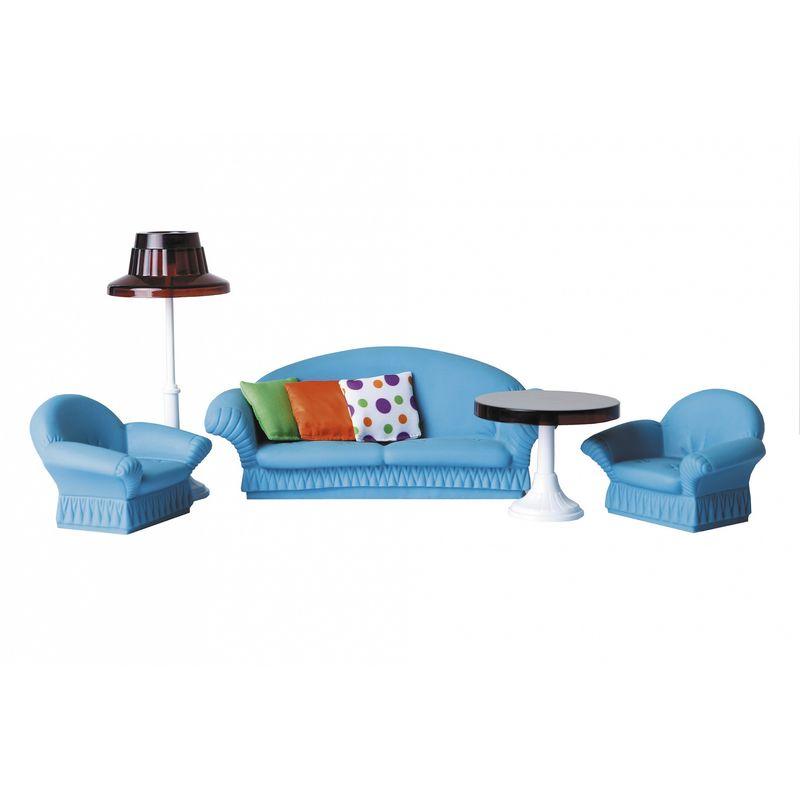 Мебель для кукол Огонек Набор мягкой мебели для гостиной Конфетти огонек набор мебели для кукол коллекция для столовой