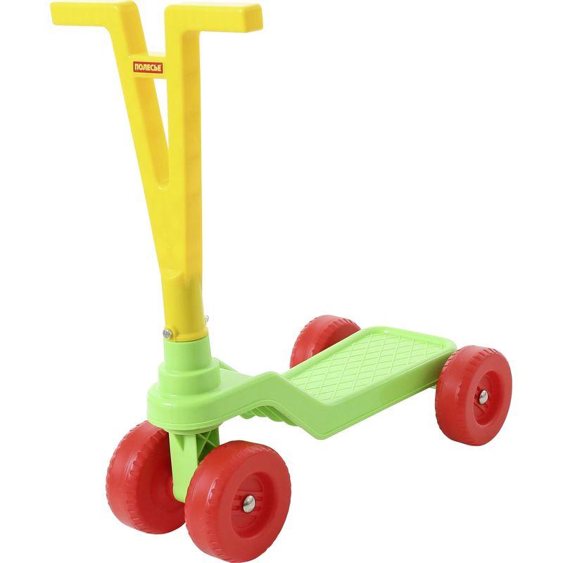Самокат Polesie детский, четырёхколёсный , цвет: желтый/зеленый самокат oxelo четырехколесный самокат stunstreet