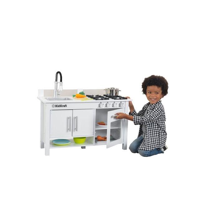 Кухня KidKraft Маленький Повар игрушечная, цвет: белый кухня детская kidkraft классик